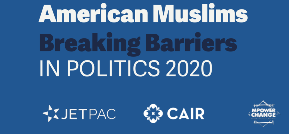 NEW: a record 168 Muslim candidates were on the ballot in 2020